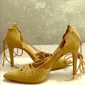 Christian Soriano - Tan Lace Up Pumps